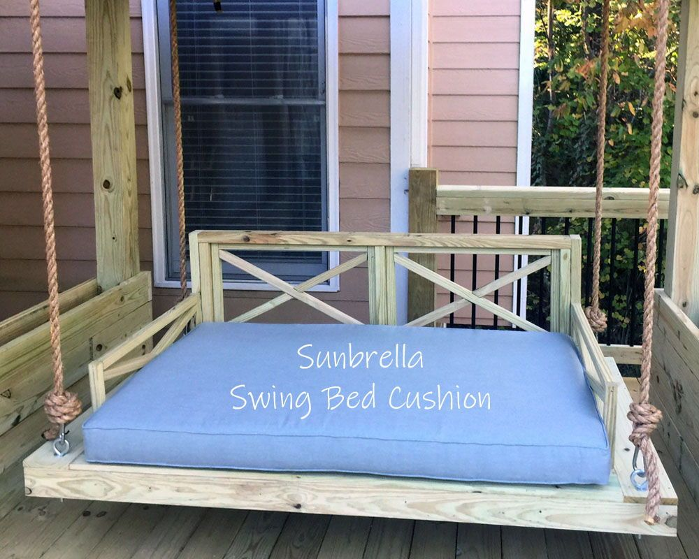 Sunbrella Custom Daybed Cushion Crib Bed Size Porch Swing Etsy Porch Swing Outdoor Daybed Cushion Bed Swing