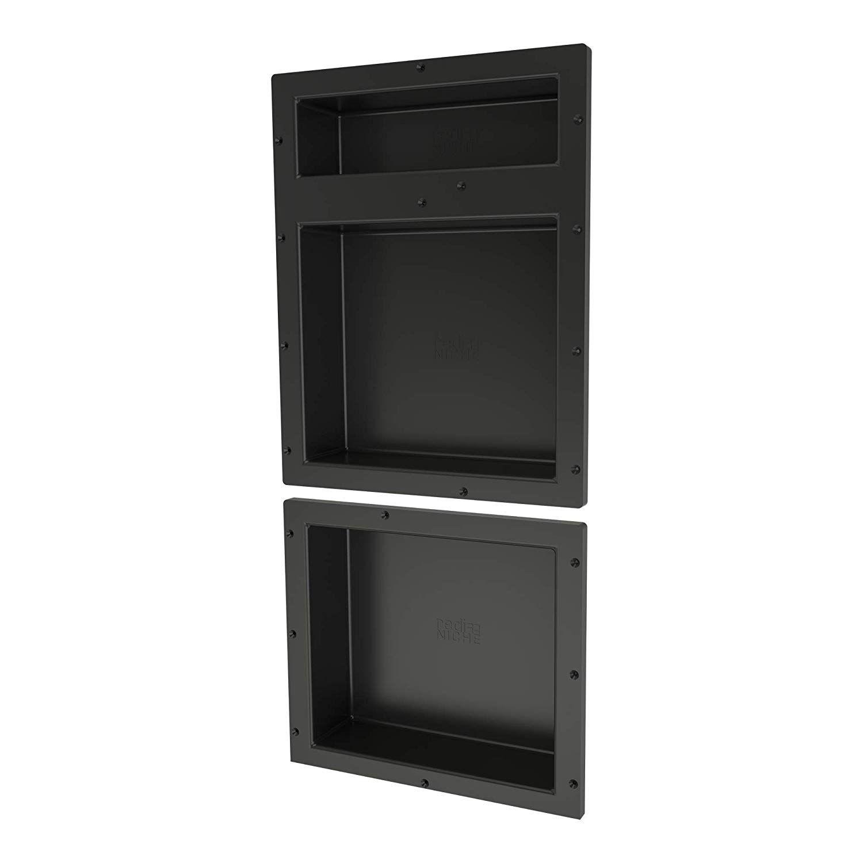 Tile Redi Usa Rnt1620du 14 Niche Shower Shelf 16 W X 34 H Black