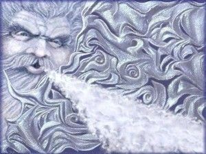 Old Man Winter And Carbon Monoxide Men Illustration An Night Paraphrase