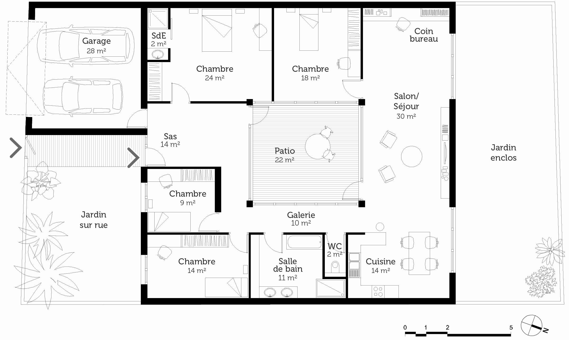 Plan Maison De Plain Pied 160 M Avec 4 Chambres Ooreka 2