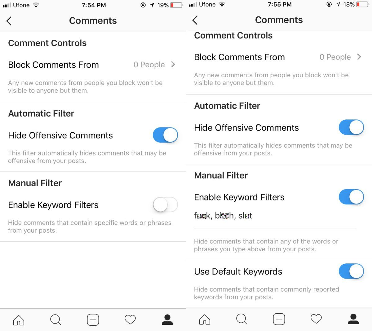 How To Block Offensive Comments On Instagram Instagram Instagram Tips Offensive
