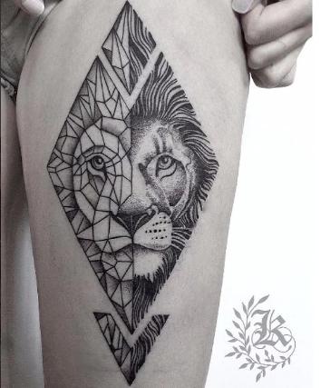 Pin De Danielle Souza En Tatoo Petit Tatuaje Geométrico León