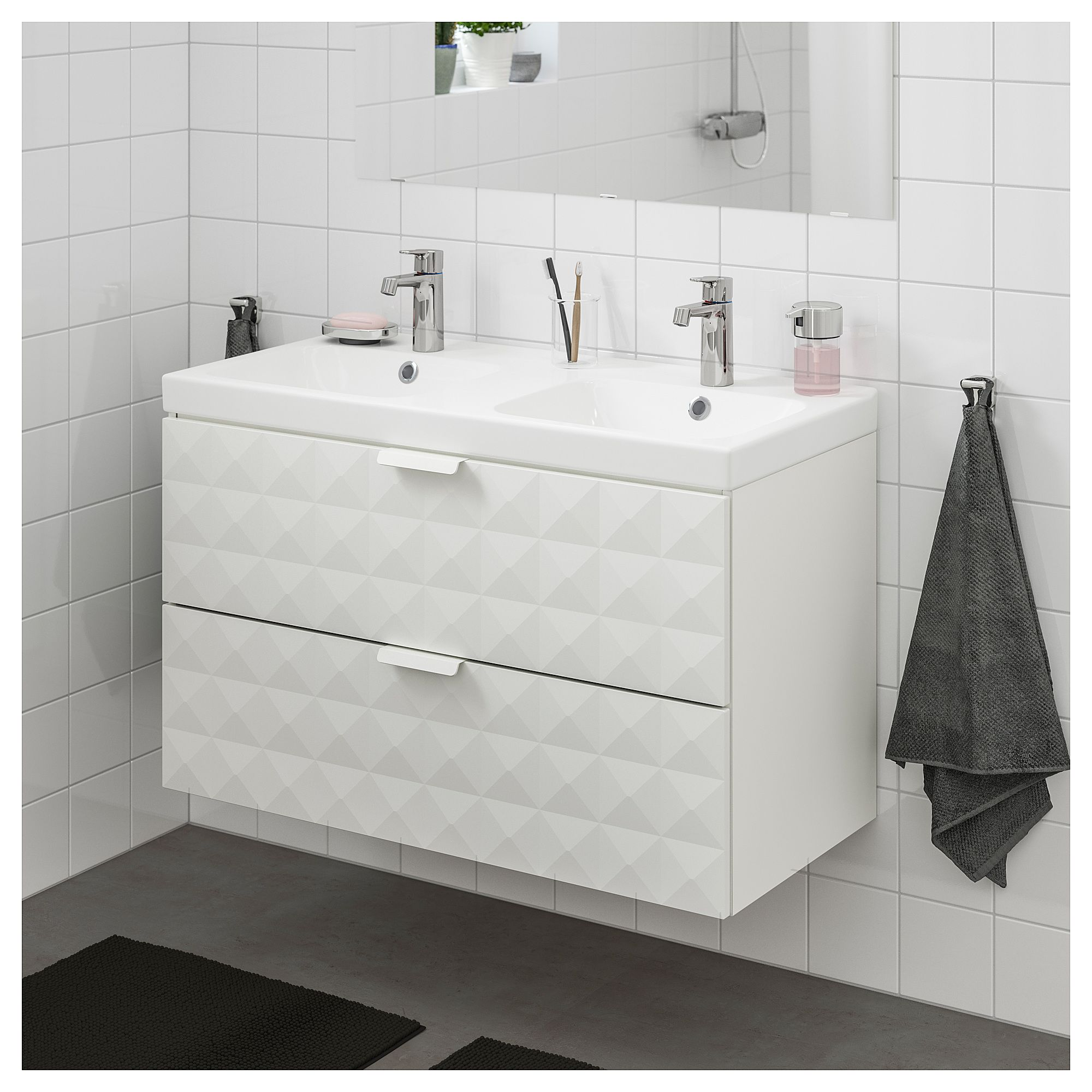 Godmorgon Odensvik Sink Cabinet With 2 Drawers Resjon White