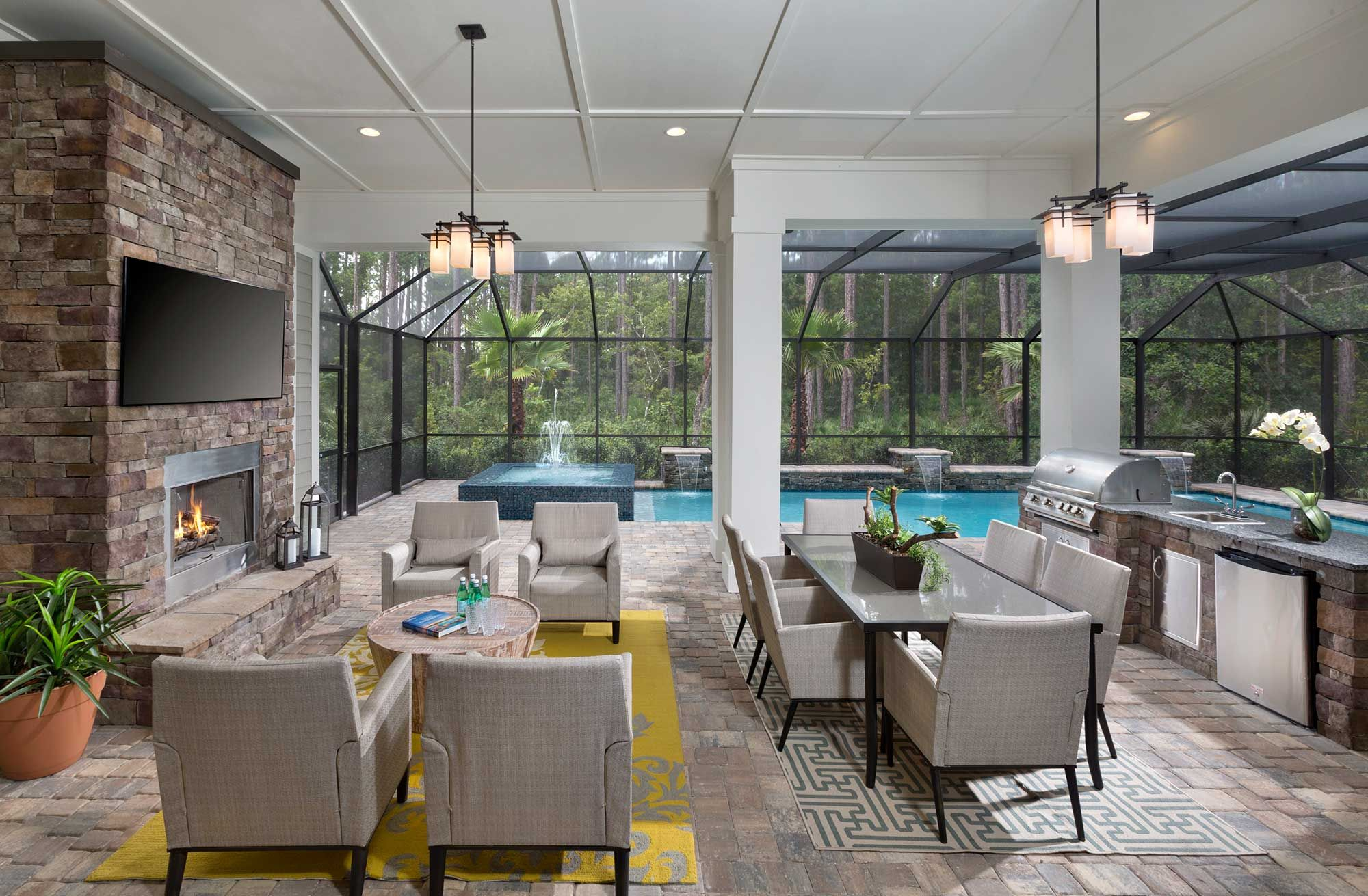 David weekley homes indoor outdoor fireplaces new homes