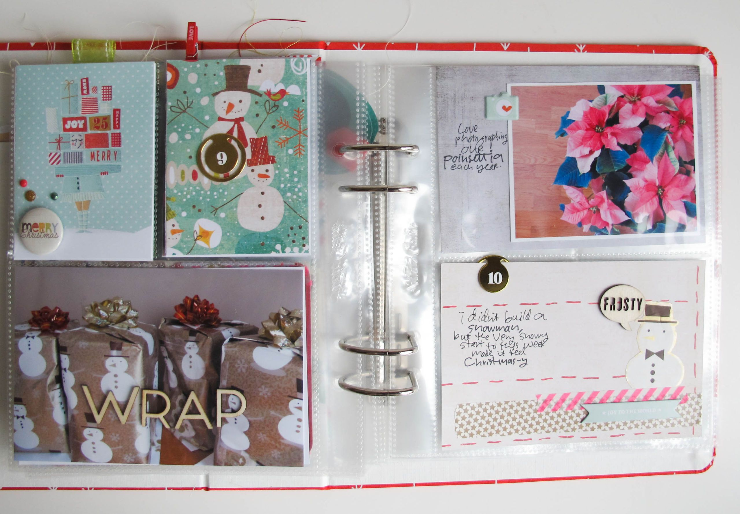 """dd 2013 12/9 &10 by Jil at @Studio_Calico....presents photo with """"wrap"""" over the top."""