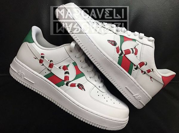 Gucci X Nike Air Force 1 Custom Made For Sale In Clayton Nj