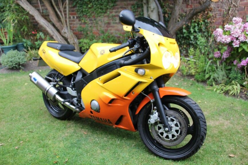 Yamaha Fzr600 Genesis Yellow Orange Yamaha Ninja Motorcycle Motorcycle
