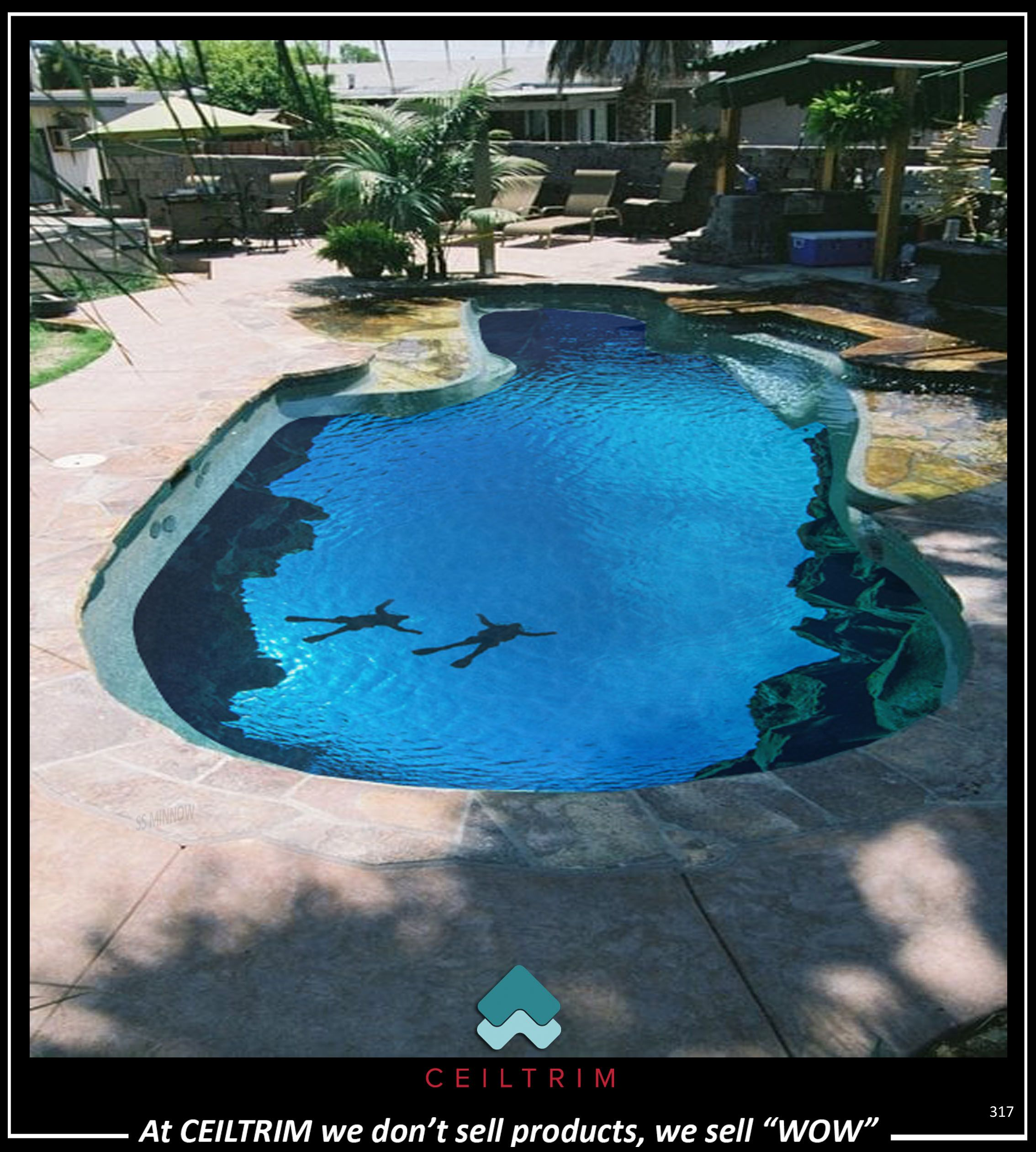 Ceiltrim 3d Resin Photo Pool Bottom Pool Cool Pools Backyard Pool