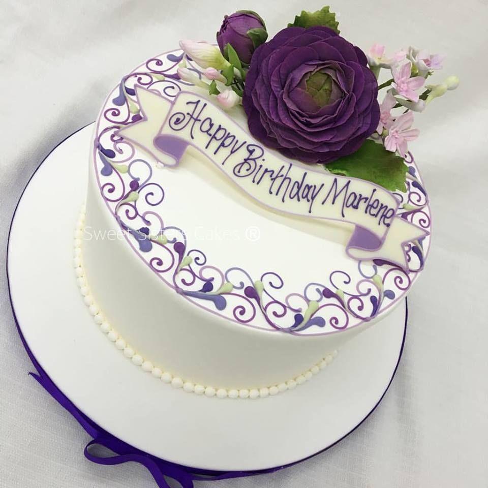 Amazing Classic Birthday Cake Design For A Classy Lady Desserts Cakes Funny Birthday Cards Online Aeocydamsfinfo