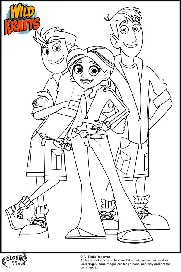 Wild Kratts coloring page Child 39 s Play Pinterest