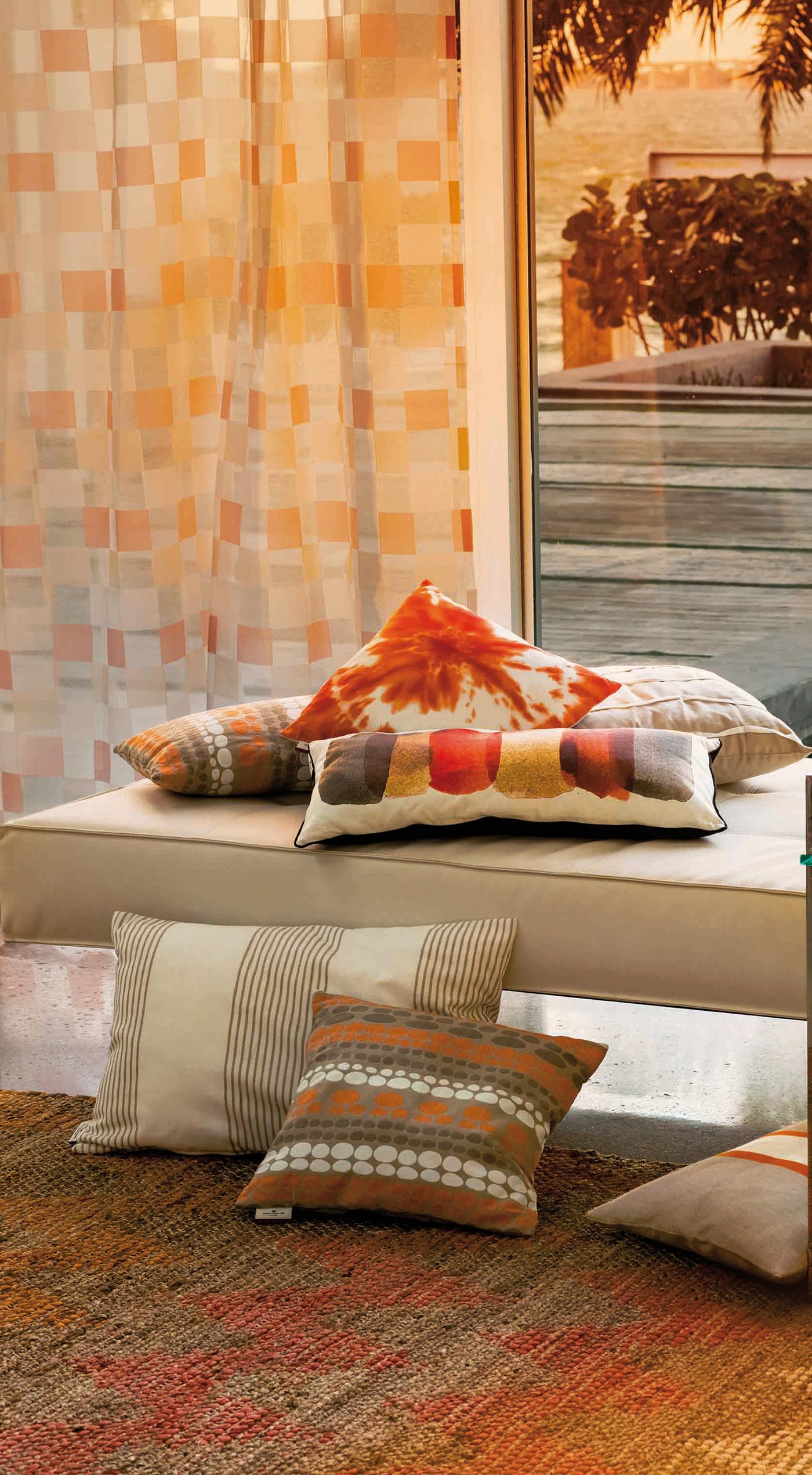 Boho style Teppich mit Zickzack Muster