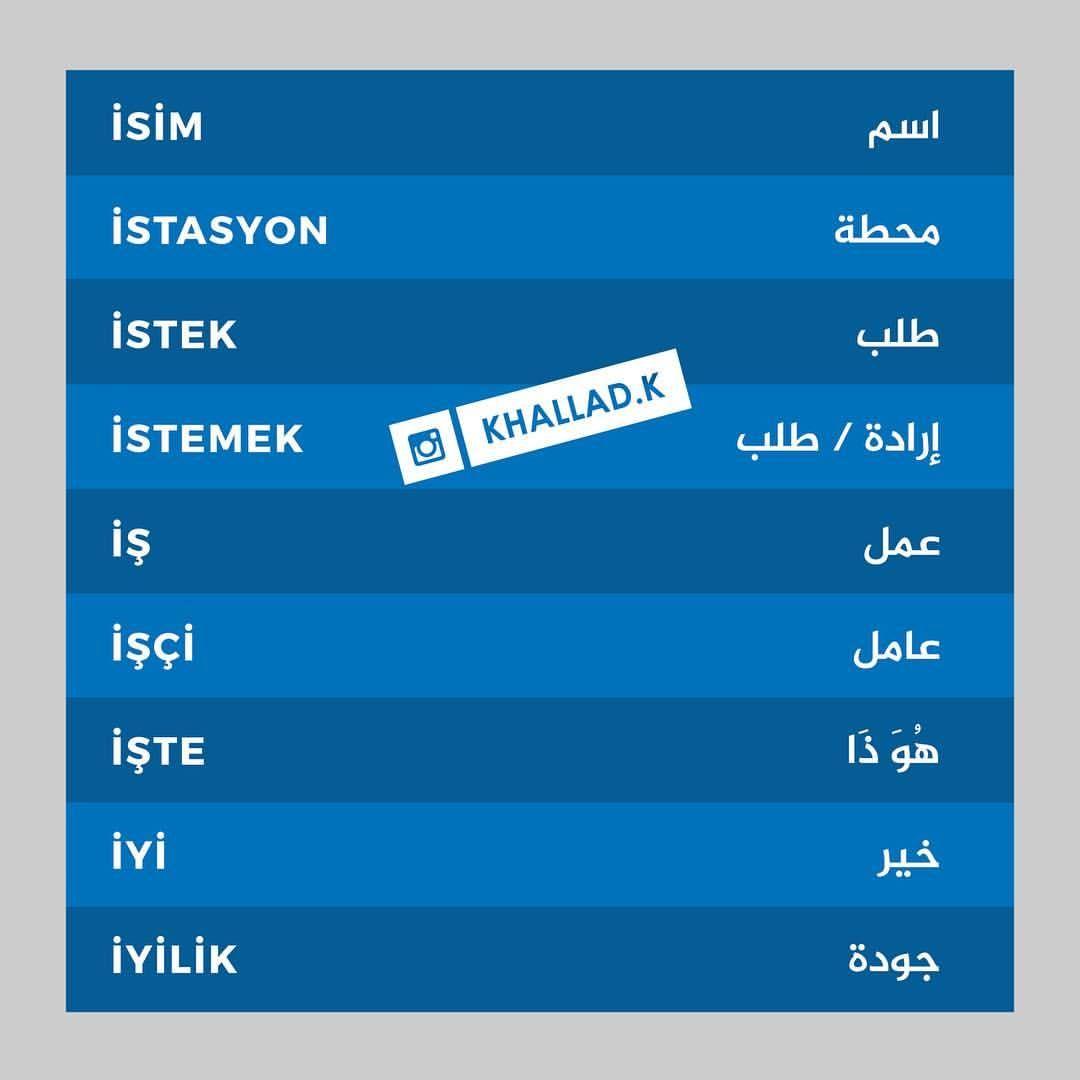 تعليم اللغة التركية On Instagram اسم Isim ايسيم محطة Istasyon ايستاسيون طلب Istek ايست Learn Turkish Language Learn Turkish Turkish Language