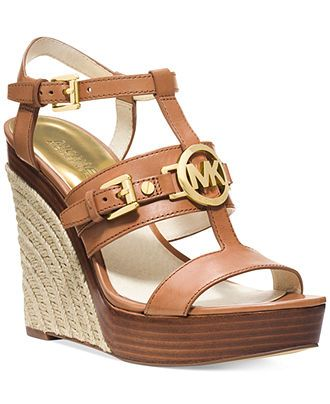 MICHAEL Michael Kors Mackenzie Platform Wedge Sandals - Wedges - Shoes -  Macy's