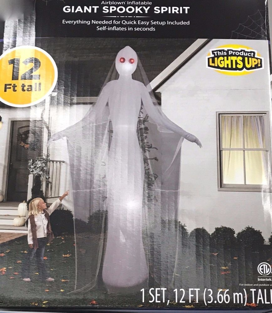 Scary Halloween Outdoor Decoration Inflatable Ghostly Female 12 Foot Airblown