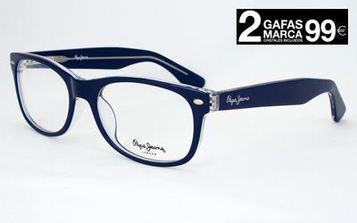 895f86a82a Gafas Pepe Jeans para hombre y mujer. Montura de pasta de inspiración retro.