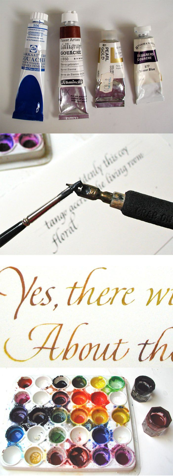 Calligraphy: Working With Gouache ( http://artid.com/members/calligraphy/blog/post/1483-working-with-gouache )