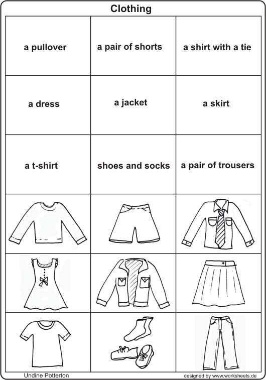 Clothing Clothes Activity Worksheet | English Kindergarten ...