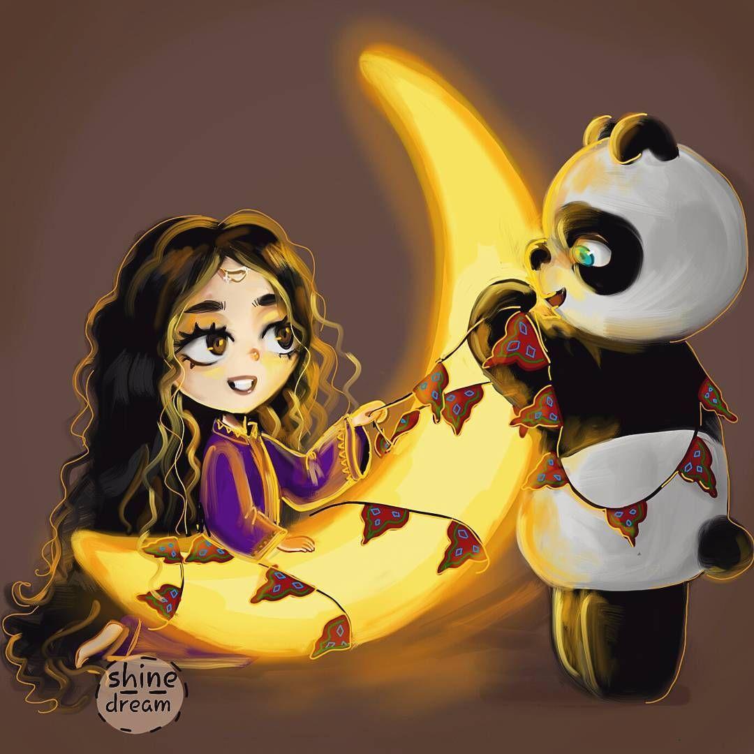 3 867 Likes 257 Comments Raw San Shine Dream On Instagram اللهم بلغنا رمضان رسمة سريعة Girly Art Panda Artwork Cartoon Drawings