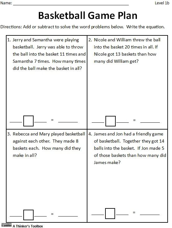 Basketball Math Madness By A Thinker S Toolbox Worksheets Printables High School Math Lessons Elementary Lesson Plan Template Physical Education Lesson Plans