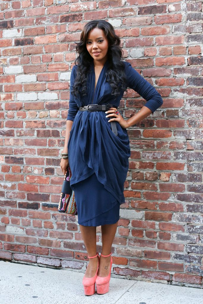 OMG! This dress!! Fashion Week Street Style