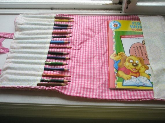 PATTERN Coloring Book Bag Pencil Crayon By Avisiontoremember
