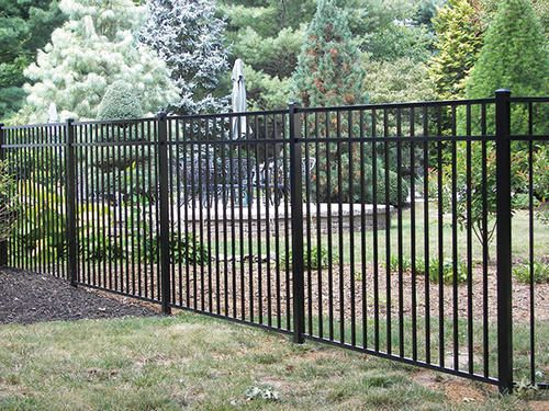 54 Quot H X 70 Quot W Asbury 3 Rail Aluminum Fence Panel At Menards