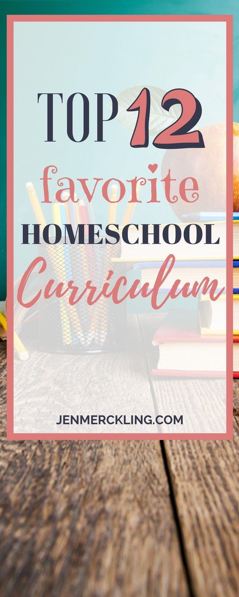 Top 12 Favorite Homeschool Curriculums