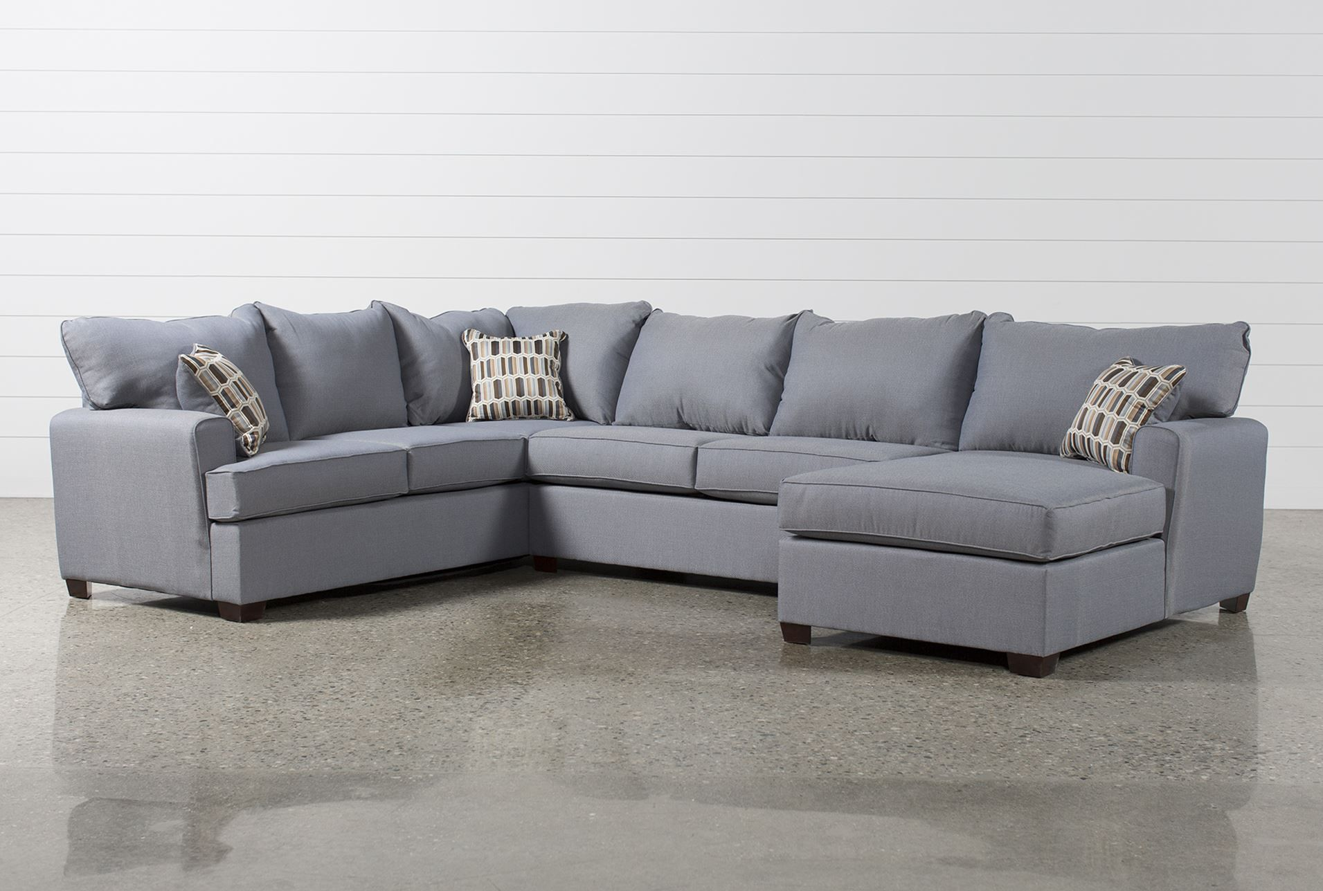 Bingham 3 Piece Sectional W Raf Chaise Signature