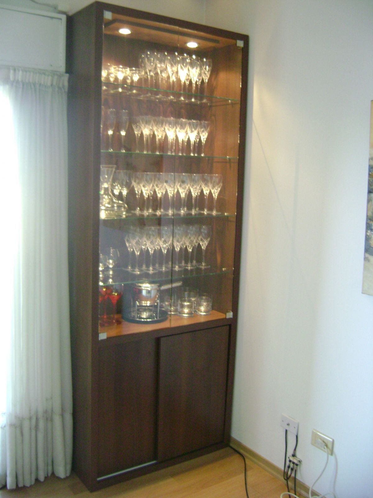 Luxury Bar Glass Display Cabinet