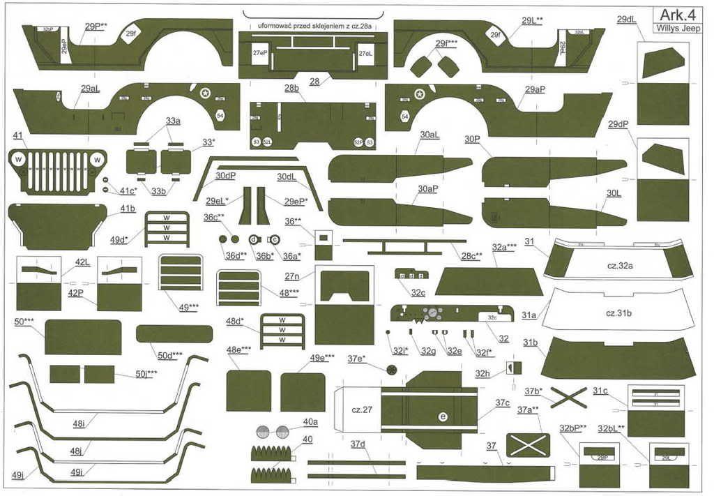 Maquetas de papel de jeep y hummer miniatur for Realizar planos