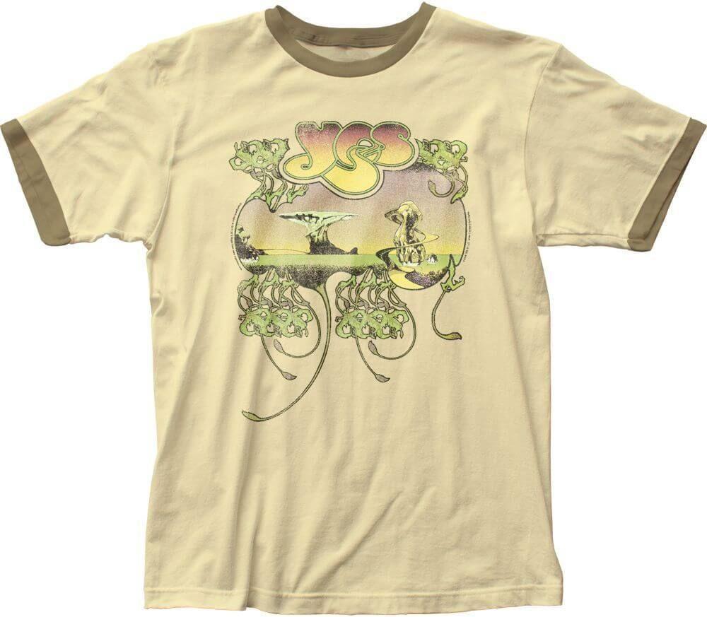 Yes Yessongs Album Cover T Shirt Men S Beige Vintage Ringer Mens Tshirts Vintage Concert T Shirts Rock T Shirts