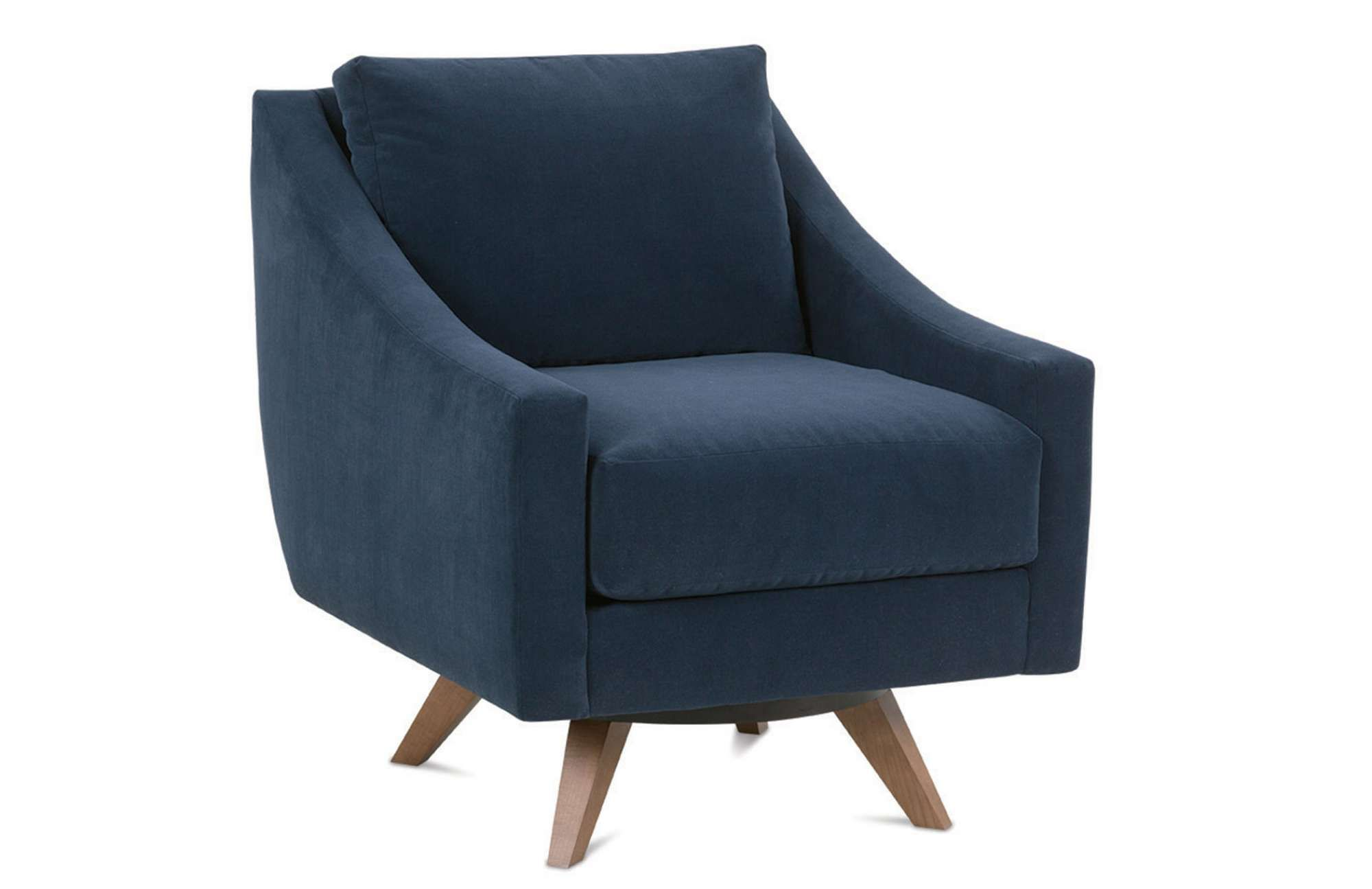 The Nash Swivel Chair is a contemporary modern design from Rowe