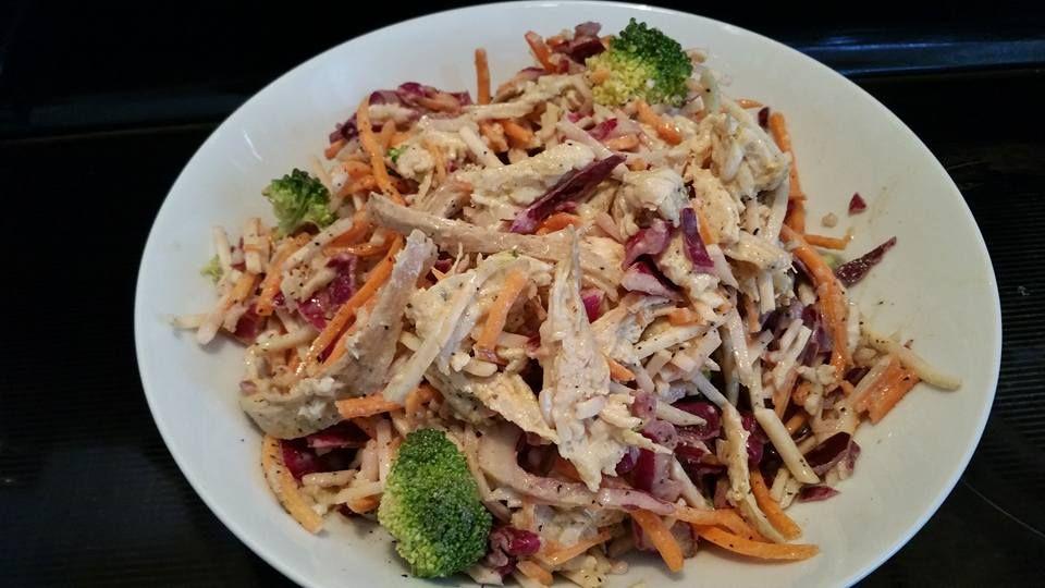 Creamy chicken salad. P2. #HCGrecipes4u