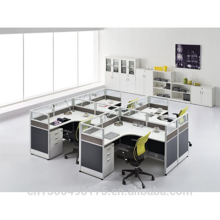 Escritorio de oficina moderna jy 144 imagen mesa de madera for Mesas escritorio modernas