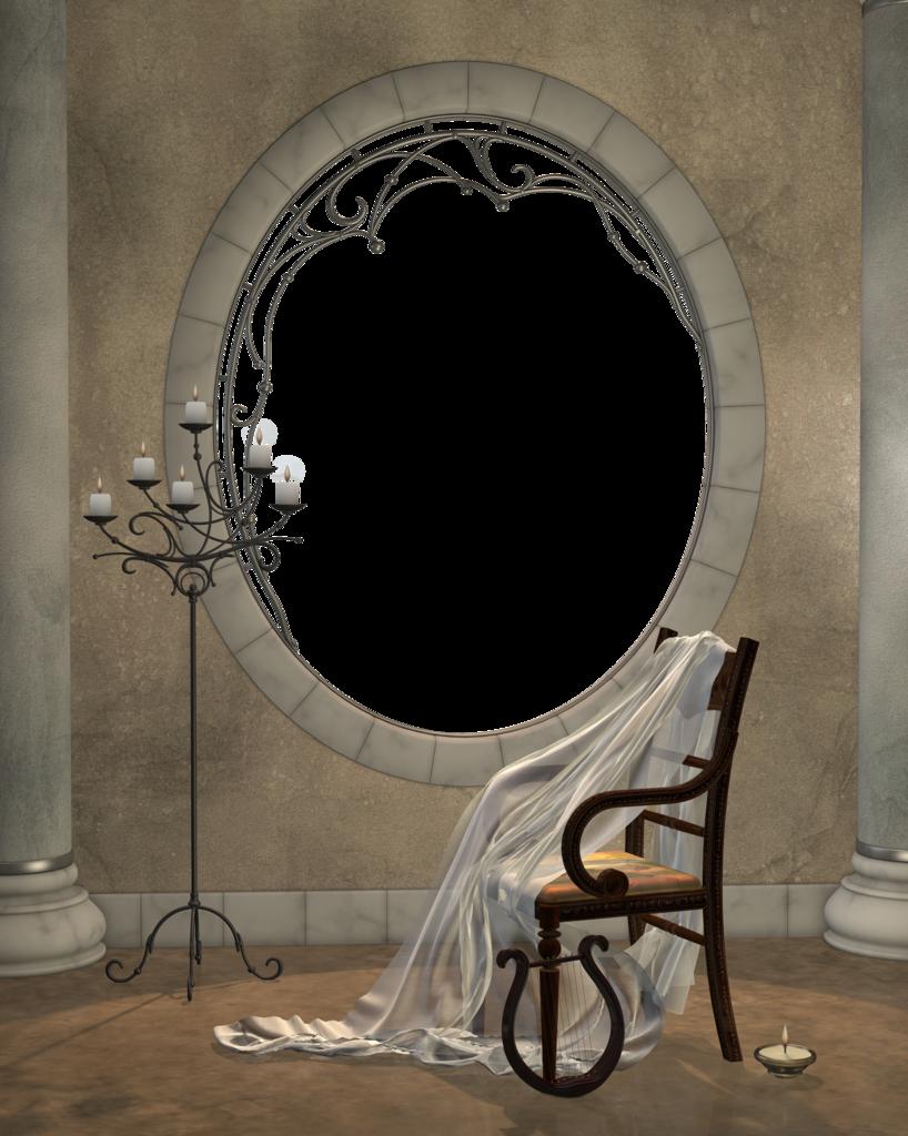Beautiful Brown Transparent Frame with Transparent Round ...