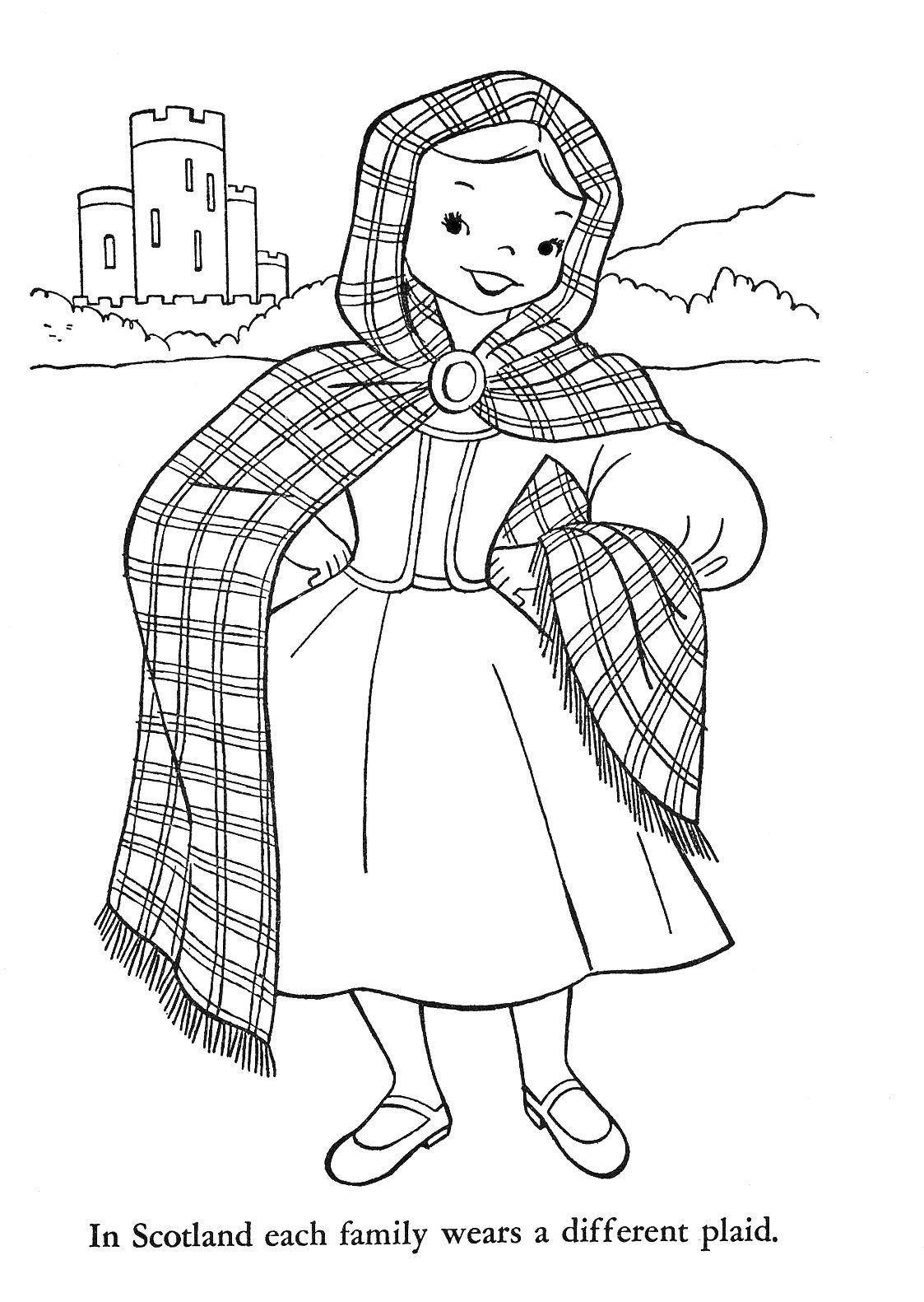 Clip Art Scotland Coloring Pages 1000 images about scotland on pinterest around the worlds other and gel pens