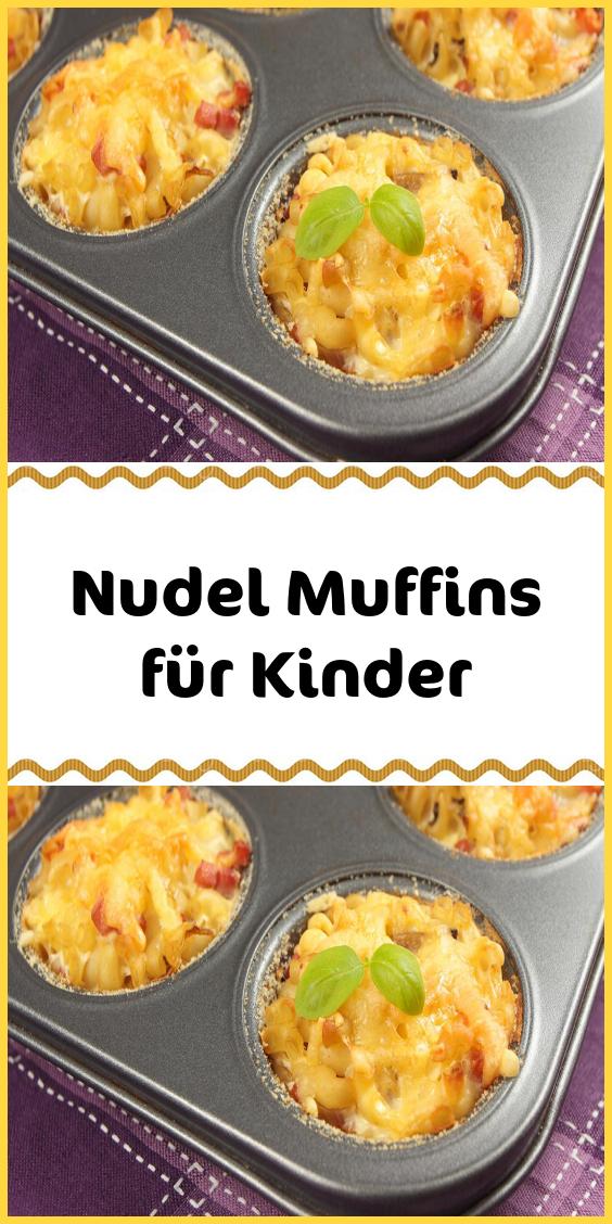 Nudel Muffins für Kinder
