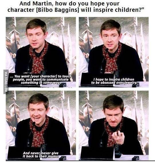 Bilbo Baggins inspiring kids around the globe