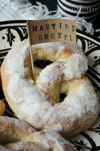 Martinsbrezel: the sweet counterpart to the famous Brezel, it is mostly eaten the few days before the Sankt Martinstag in November