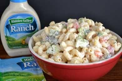 Buttermilk Ranch Pasta Medley Salad Recipe Hidden Valley Ranch Pasta Salad Ranch Recipe Food