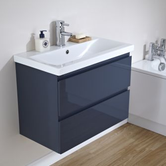 Milano Clever Gloss Graphite Vanity Unit Bathroom