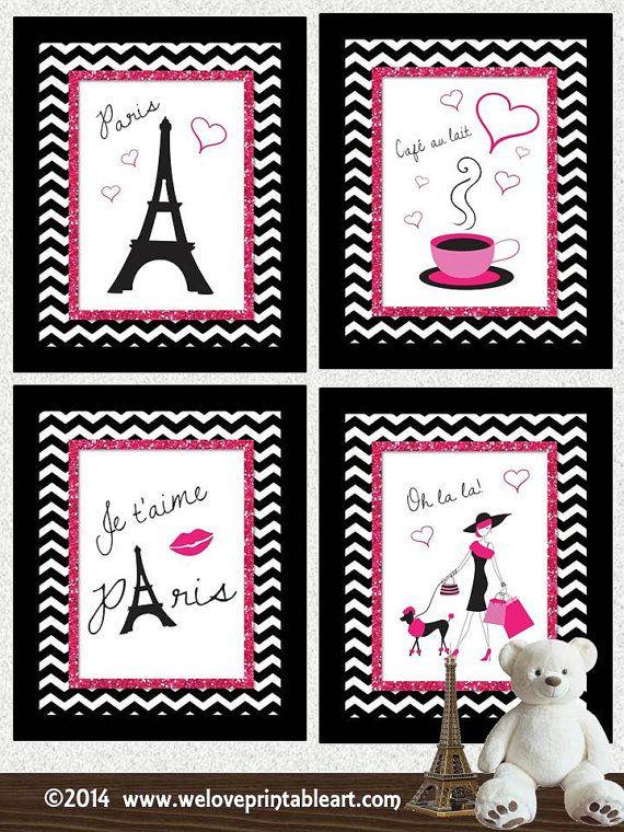 Paris Decor Baby Girl Nursery Decor Art Print Girls Room Decor