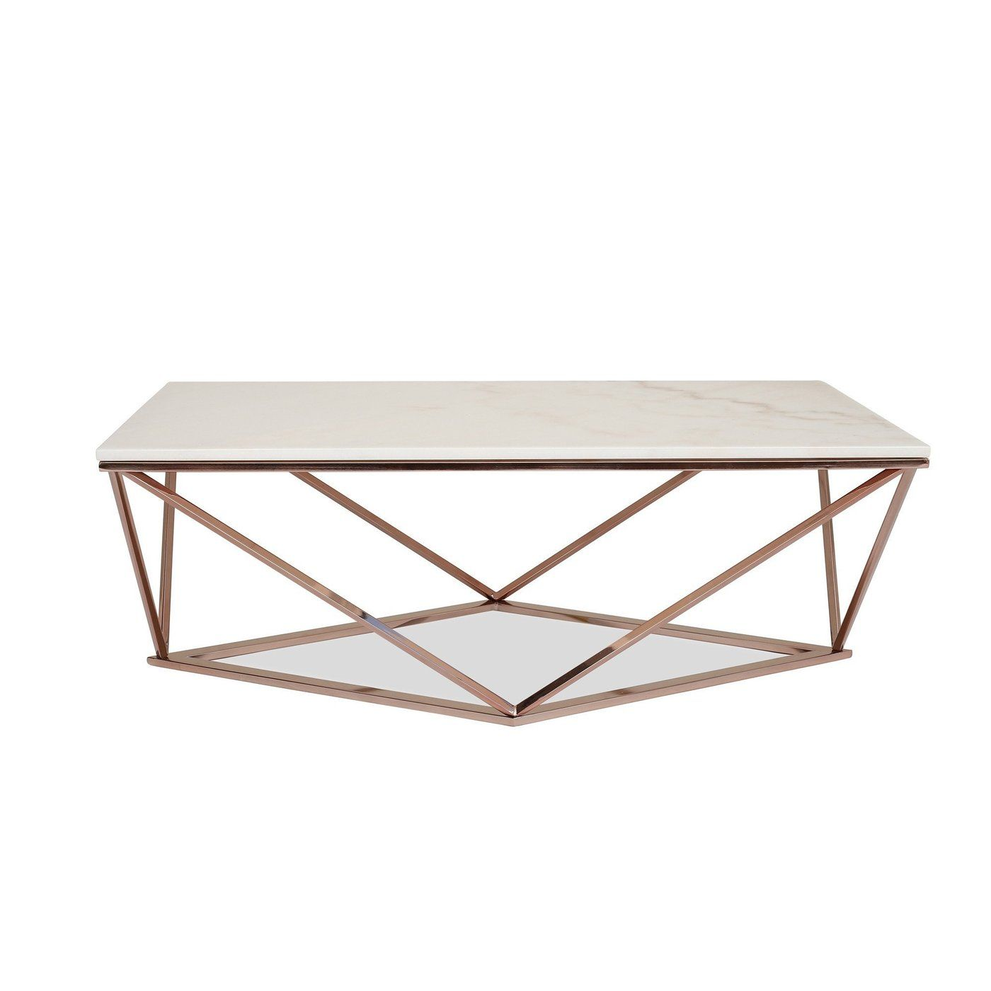 Aria Rose Gold Coffee Table With White Marble Top Gold Coffee Table Rose Gold Coffee Table Coffee Table [ 1400 x 1400 Pixel ]