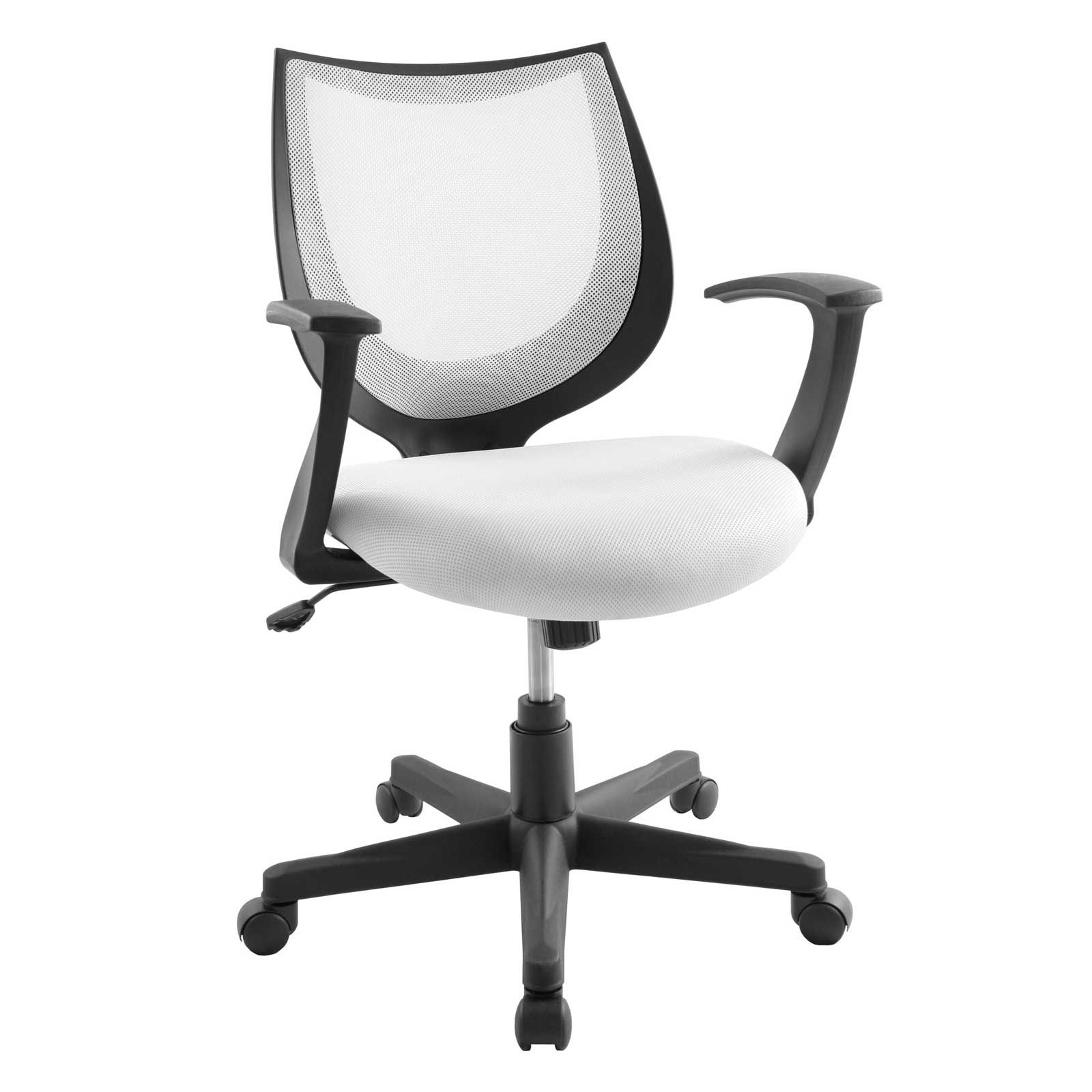 White Back Mesh Viper Arm Office Chair  White desk chair, White