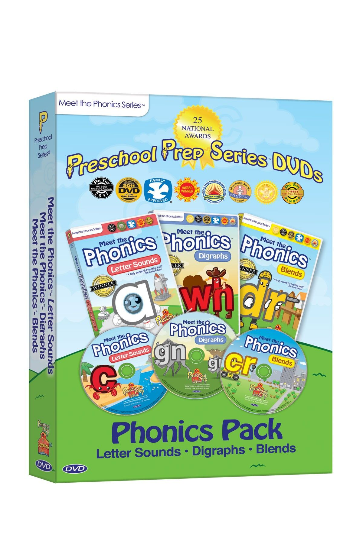Preschool Prep Company Meet the Phonics DVD 3-Pack | Ajin ...