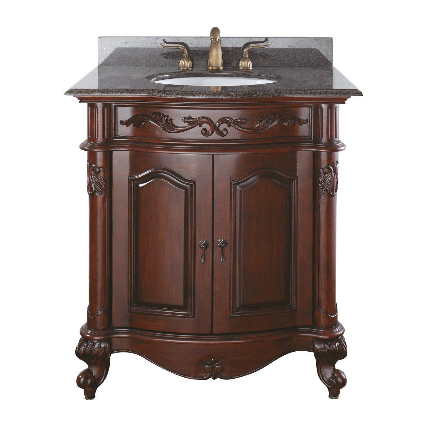 avanity provence v antique cherry bathroom vanity lowe s on lowes vanity id=49358