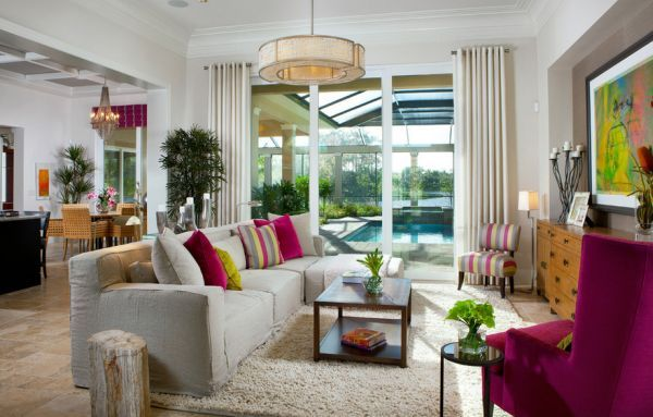 Colors Of Nature: Contemporary Interiors With A Dash Of Fuchsia ...