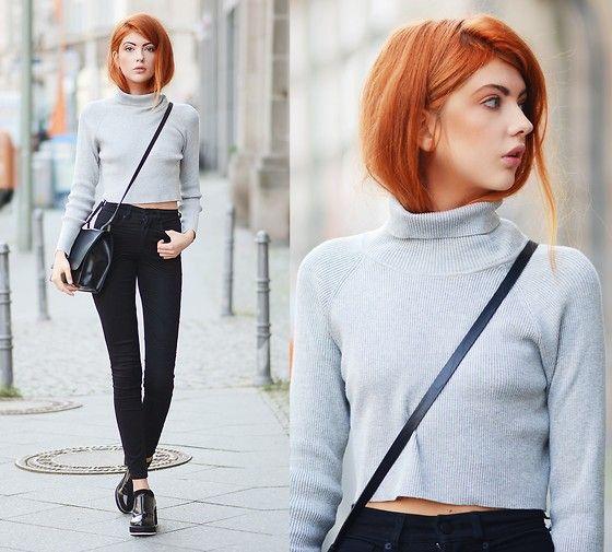 Ebba Zingmark - Shellys London Shoes, Monki Pants, 2hand Sweater - Deutsche Rentenversicherung