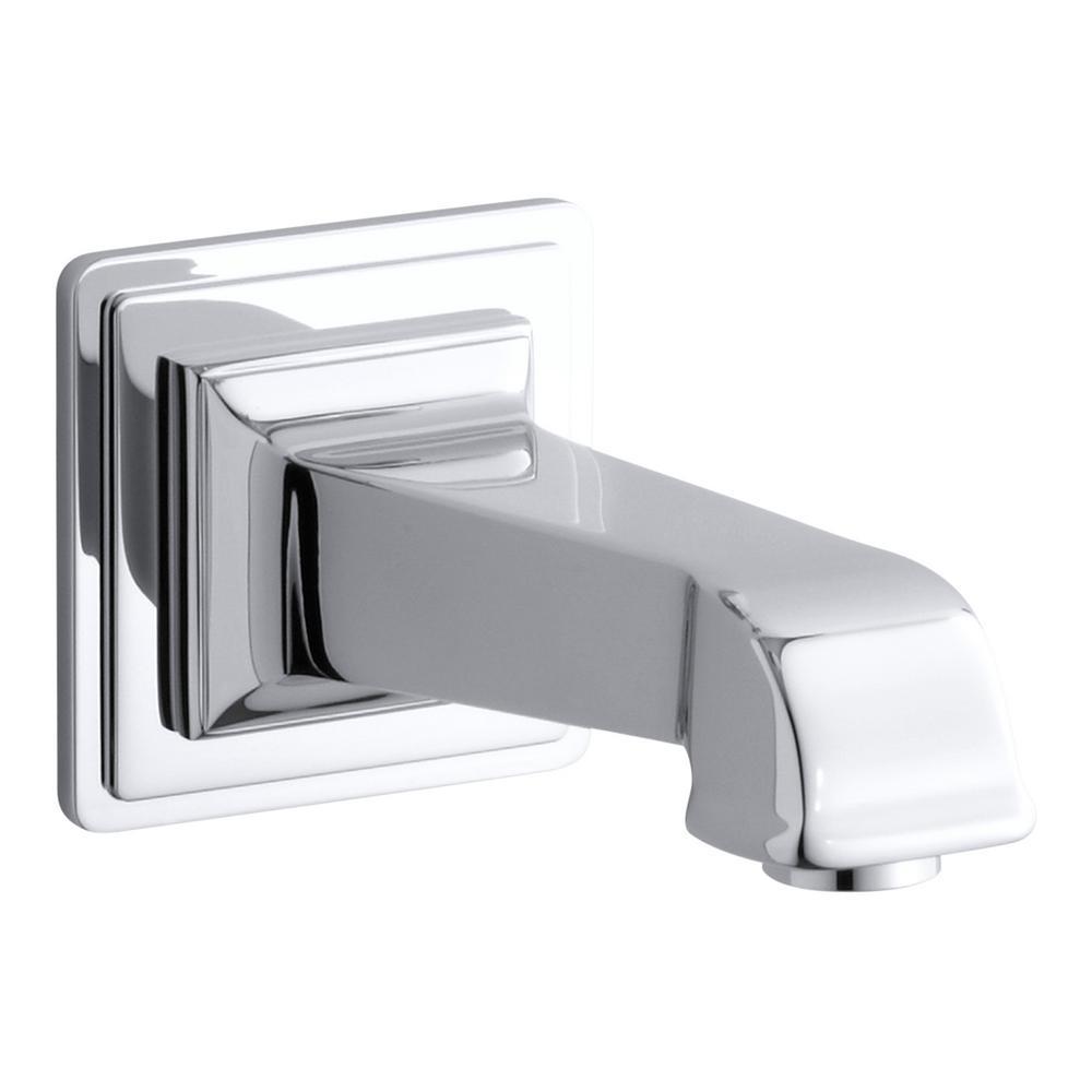 Kohler Pinstripe Wall Mount Bath Spout In Polished Chrome Tub Spout Bathtub Spouts Kohler
