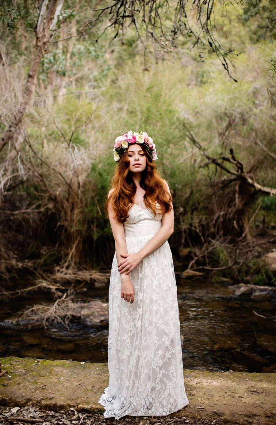 Bohemian Luxe at Serpentine Falls Wedding dresses